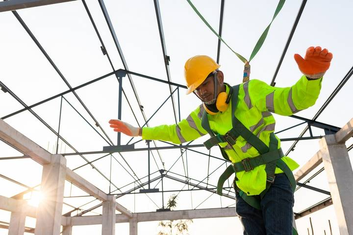 Height hazards are common construction site hazards for those who work at heights.