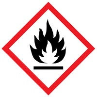 The meaning of the flame WHMIS label is that the product is a potential fire hazard.