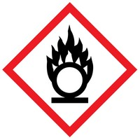 The meaning of the flame WHMIS label is that the product may cause a fire or an explosion.