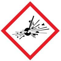 The meaning of the exploding bomb WHMIS label is that the product can be a severe fire and explosion hazard.