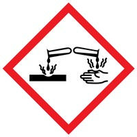 The meaning of the corrosion WHMIS label is that the product can destroy or damage metals.