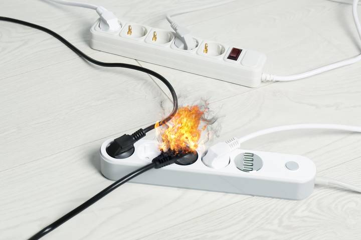 Cause - Faulty electrical equipment in the workplace