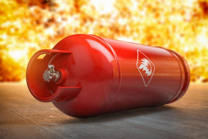 Cause - Flammable materials stored improperly in the workplace